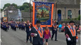 Parade in Lisnaskea in July 2019