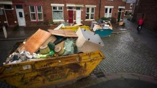 Flooding clean-up in Carlisle
