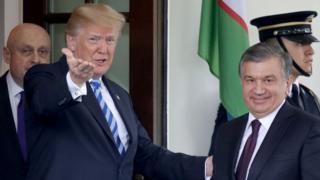 Дональд Трамп и Шавкат Мирзиёев