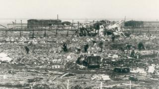 The aftermath of the explosion