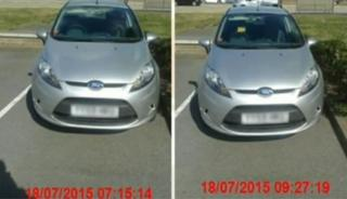 Simone Riley-Young's car parked at Tritton Retail Park