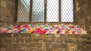 The knitted teddies at St Mary's