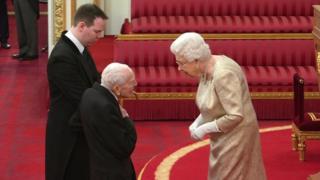 Harry Billinge and the Queen