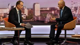 Andrew Marr and Sajid Javid