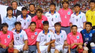 Two Korean sides intermingle in photo ahead of the 2002 friendly