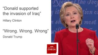 Images Reality Check: First Clinton v Trump presidential debate - BBC News 2