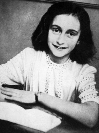 A picture of Anne Frank taken on January 1, 1942 and released by the Anne Frank Fonds.