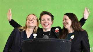 Sian Berry, Bristol West Candidate Carla Denyer and deputy leader Amelia Womack