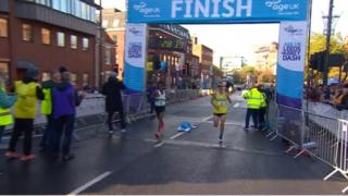 The finish line of Abbey Dash