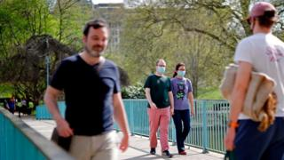 People in St James Park