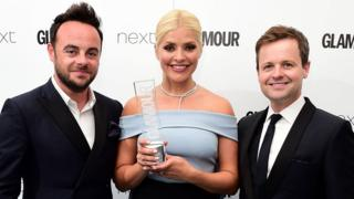 Ant, Dec and Holly Willoughby