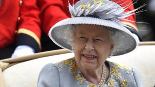 The Queen at Ladies' Day Royal Ascot