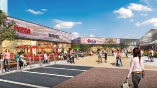 Artist's impression of the new-look Parc Tawe