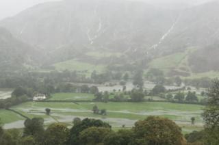 Flooding in Borrowdale