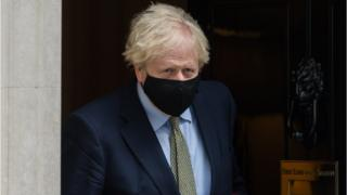 Boris Johnson Leaving the House of Commons.