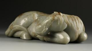 Jade horse from Ming or Qing dynasty