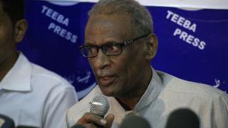 Mohamed Youssef Ahmed al-Mustaf, l'un des leaders de l'Association soudanaise des professionnels, le syndicat à la pointe des manifestations antigouvernementales.