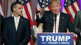 Corey Lewandowski, Donald Trump