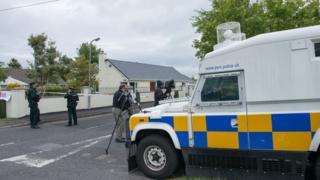 Scene of bomb in Eglinton