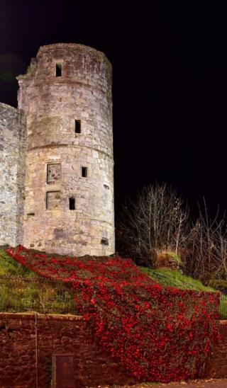 Poppies at Strathaven Castle