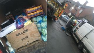 Van of food and hotel