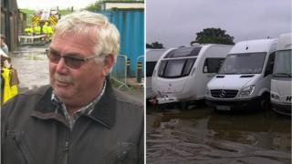Rob Lomas and caravan park in Congleton