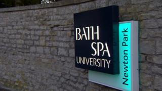 Bath Spa University sign