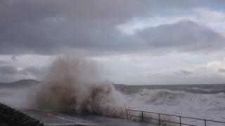 Recent storms have battered Old Colwyn's sea defences