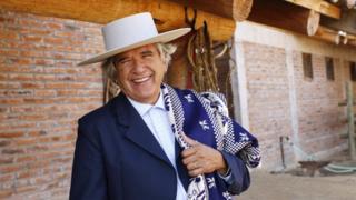 Carlos Cardoen at Vina Santa Cruz