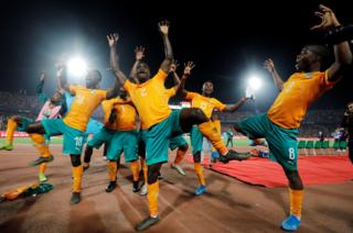 in_pictures Ivory Coast players celebrate