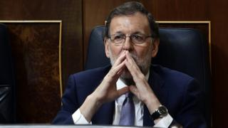 Spain's acting Prime Minister, Mariano Rajoy