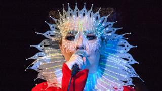 Bjork performs onstage at the Airwaves Music Festival in Iceland (05 November 2016)