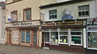 Former Castle Bakery in Beaumaris, Anglesey