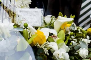 Floral tribute from Sir Rod Stewart