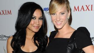 Naya Rivera (left) and Heather Morris in 2010