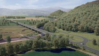 Artist impression of the replacement bridge