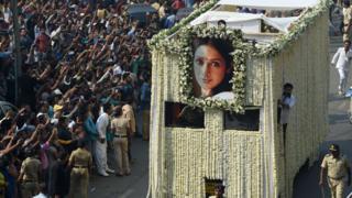 Sridevi's funeral procession