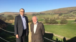 Andrew Haigh, chief executive of the Newcastle Building Society, and Joe Pilling, chairman of the Upper Dales Community Partnership
