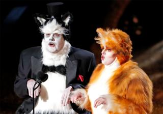 in_pictures James Corden and Rebel Wilson dressed as cats