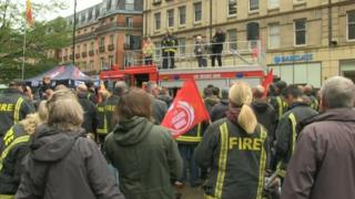 Demonstration at Sheffield Town Hall