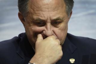 """Vitaly Mutko, le ministre russe des Sports, a estimé que les athlètes de son pays ont été l'objet d'une """"punition collective"""" de la part du TAS."""