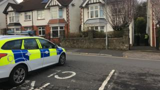 Police attended an address in Castle Avenue in Mumbles