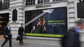 Superdry store in Regents Street