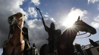 Re-enactors end 300-mile journey to recreate the Battle of Hastings
