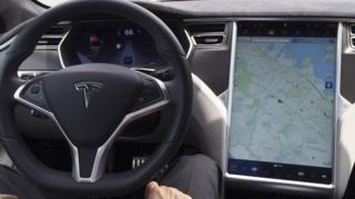 Un vehículo con GPS