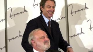 Frank Dobson and Tony Blair in 2000