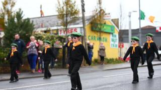 Memorial march in west Belfast on Sunday 13 November