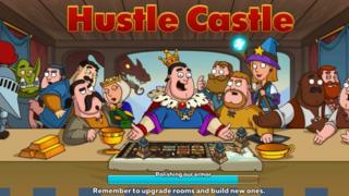Loading screen from the Hustle Castle game