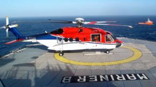 CHC helicopter on Mariner platform