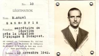 The diplomatic ID for Angel Sanz Briz